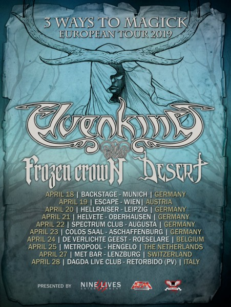 ELVENKING + FROZEN CROWN + DESERT - 3Ways To Magick European Tour 2019