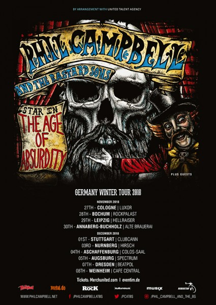 PHIL CAMBELL AND THE BASTARD SONS - Germany Winter Tour 2018 + Support: Tim McMillan & Rachel Snow