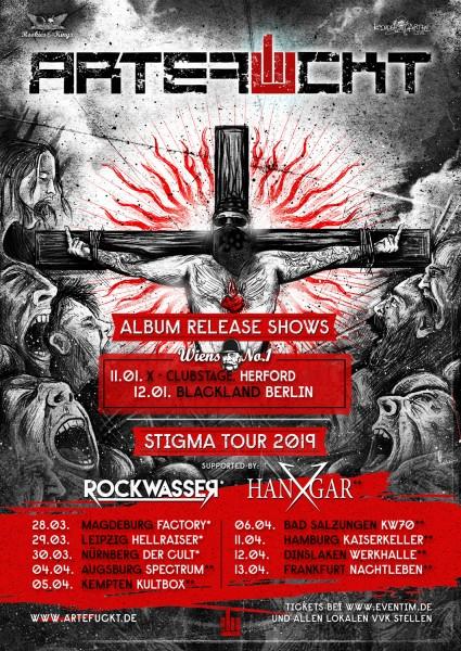 """ARTEFUCKT """"STIGMA TOUR 2019"""" + special guest Hangar X"""