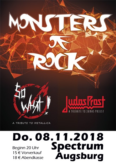 MONSTERS OF ROCK mit SO WHAT - Metallica Tribute Band & JUDAS PROST - Judas Priest Tribute Band