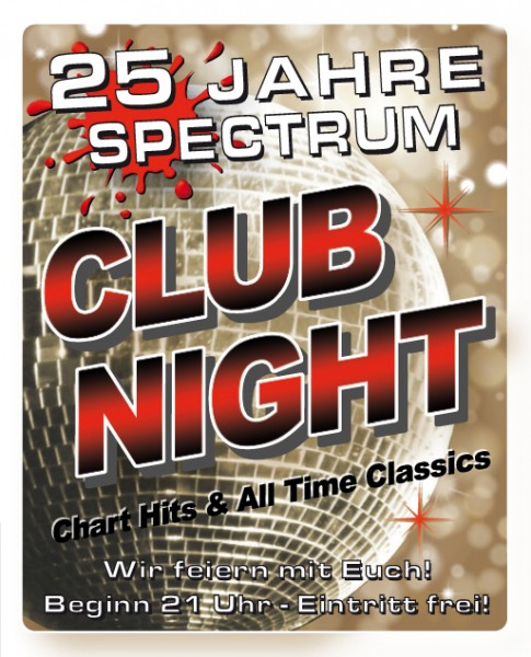 25 Jahre Spectrum - SPECTRUM CLUB NIGHT mit DJ Franky & DJ Heiner