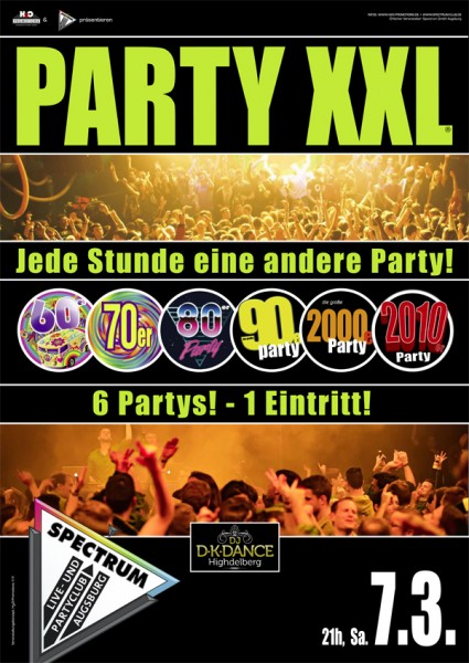 PARTY XXL - Jede Stunde eine andere Party!